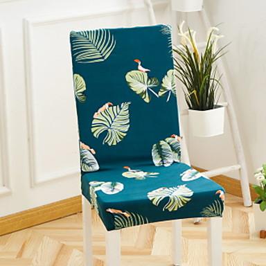 עכשווי 100% פוליאסטר ג'אקארד כיסוי לכיסא, פשוט צמחים הדפס כיסויים