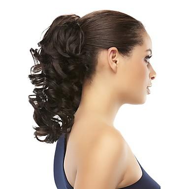 Clip in / on Akcesoria do peruk Afrykańskie warkocze Włosie synetyczne Kawałek włosów Przedłużanie włosów Prosta 14 cali Na co dzień