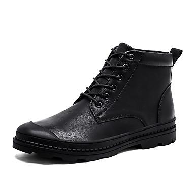 בגדי ריקוד גברים נעליים קנבס אביב סתיו נוחות שטוחות נעלי ספורט אפליקציות מפרק מפוצל שרוכים ל קזו'אל חום שחור