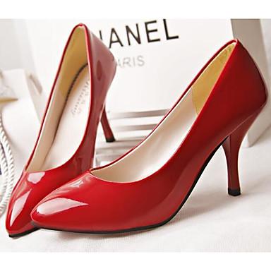 Tacones 06601016 PU Tacón Zapatos Otoño Rojo Mujer Primavera Stiletto Blanco Negro Confort PHpOXqwxn