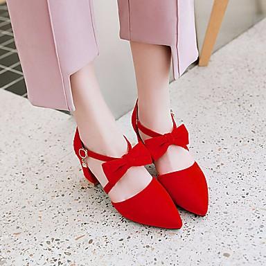 à Chaussures Rouge Similicuir Bottier 06574415 Chaussures Confort Talon Talons Eté Bout Printemps Jaune pointu Femme Beige YXx6H6