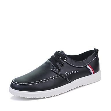 Herrn Schuhe Gummi Frühling / Herbst Komfort Sneakers Weiß / Schwarz / Braun