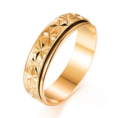 בגדי ריקוד גברים טבעת הטבעת - ציפוי זהב אופנתי 7 / 8 / 9 זהב עבור מתנה / אָהוּב