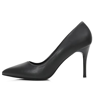 Aiguille Chaussures Talons Printemps Escarpin Automne Basique à pointu Talon Bout Femme Chaussures 06593531 Noir Polyuréthane 8xnvRd8wU