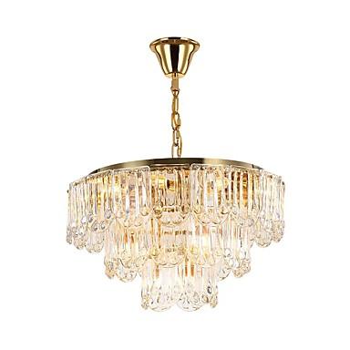 QIHengZhaoMing Kryształ Żyrandol Światło rozproszone Galwanizowany Kryształ Kryształ, Ochrona oczu 110-120V / 220-240V Zawiera żarówkę