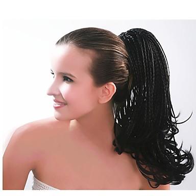 voordelige Haar Stukken-Klem In/Op Wig Accessories Bear Claw / Jaw Clip Afro Ponytail Synthetisch haar Haar stuk Haarextensies Recht 55.9 cm Dagelijks gebruik