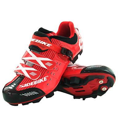 SIDEBIKE Volwassenen Mountainbikeschoenen Nylon Anti-slip, Anti-Shake, Opvulling Wielrennen Rood / zwart Heren