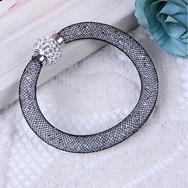 baratos Bangle-Mulheres Diamante sintético Bracelete senhoras Básico Resina Pulseira de jóias Cinzento / Vermelho / Champanhe Para Presente Diário / Imitações de Diamante
