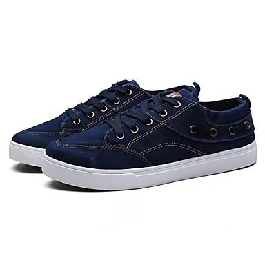 Męskie Komfortowe buty Guma Wiosna Adidasy Czarny / Szary / Niebieski