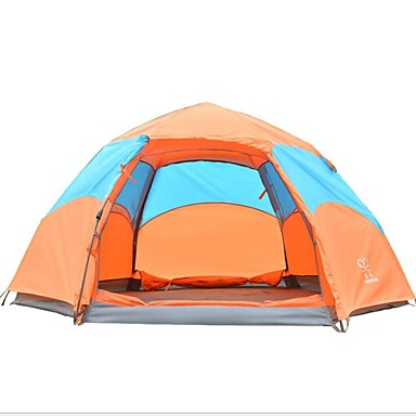 Outdoor Camping Gear 70*210cm Polyester Travel Sleeping Bag+automatic Instant Pop Up Hiking Tent 240 *180*100cm For 3-4 Persons Moderate Price Camping & Hiking Sleeping Bags