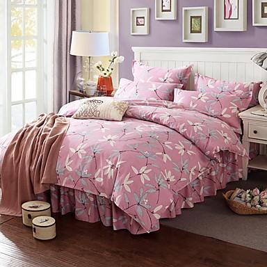 ensembles housse de couette fleur 4 pi ces polyester coton. Black Bedroom Furniture Sets. Home Design Ideas