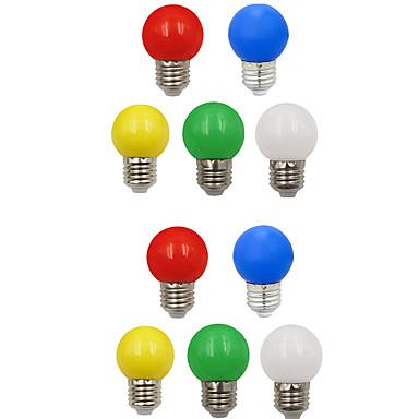billige Elpærer-10pcs 1 W LED-globepærer 100 lm E26 / E27 G45 8 LED perler SMD 2835 Dekorativ Hvit Rød Blå 220-240 V / RoHs