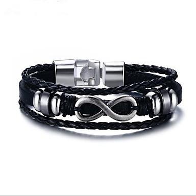 בגדי ריקוד גברים גיאומטרי שרשרת וצמידים - אופנתי צמידים שחור עבור מתנה / יומי