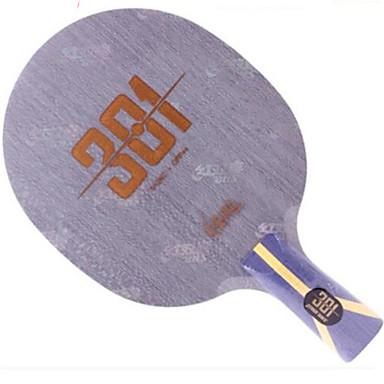 DHS® Hurricane 301 Ping Pang/מחבטי טניס שולחן לביש עמיד עץ סיבי פחמן 1