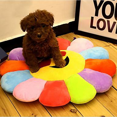 Koty / Pies Łóżko Zwierzęta domowe Maty i podkładki Wiele kolorów / Kwiat Przenośny / Oddychający / Składany Tęcza Dla zwierząt domowych