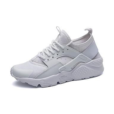 Mujer Zapatos PU Verano Confort / Mocasín Zapatos de taco bajo y Slip-On Tacón Plano Dedo redondo Pajarita Blanco / Negro / Rosa