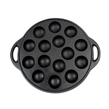 יצוק מברזל יצוק מברזל עגול מחבת Cookware, 27*3