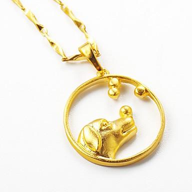 בגדי ריקוד נשים שרשראות תליון - ציפוי זהב כלבים, חיה זהב שרשראות תכשיטים עבור מתנה, יומי