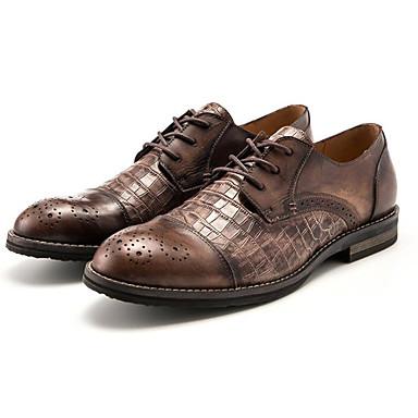 Hombre Zapatos Cuero de Napa / Cuero Sintético / Cuero Primavera Confort / Mocasín Oxfords Paseo Negro / Marrón / Caqui 8LUFS
