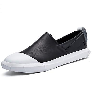 Męskie Mokasyn Skóra bydlęca Wiosna / Jesień Mokasyny i buty wsuwane Biały / Czarny