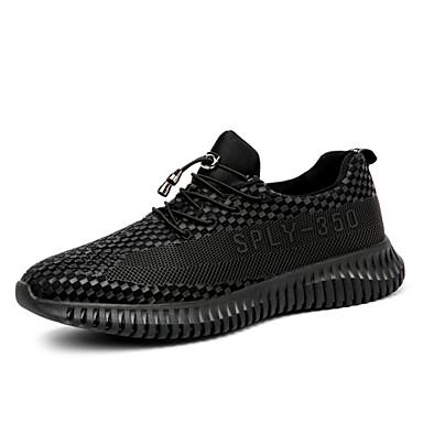 Férfi cipő Személyre szabott anyagok Nyár Ősz Könnyű talpak Kényelmes Tornacipők Tépőzár mert Hétköznapi Szabadtéri Fekete