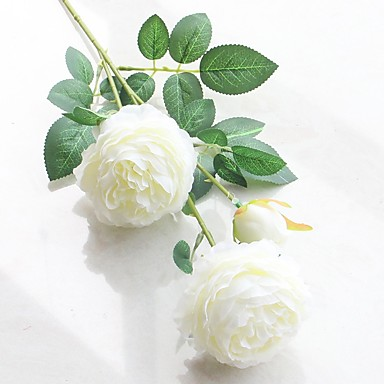 Sztuczne Kwiaty 2 Gałąź Fason europejski / Styl pasterski Piwonie Bukiety na stół