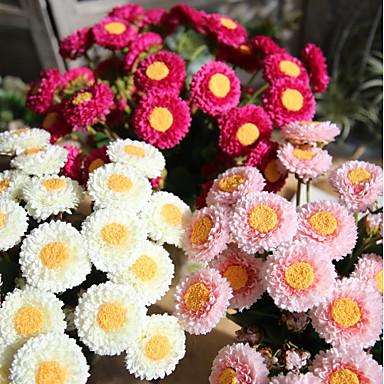 פרחים מלאכותיים 1 ענף כפרי / מודרני / עכשווי חַרצִית פרחים לשולחן
