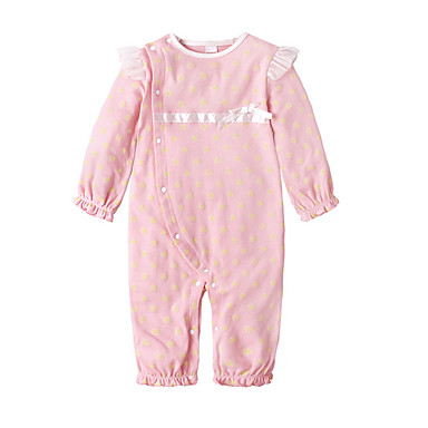 f52773375 Baby Girls' Active Daily / Sports Solid Colored Long Sleeve Cotton /  Polyester Overall & Jumpsuit White / Cute