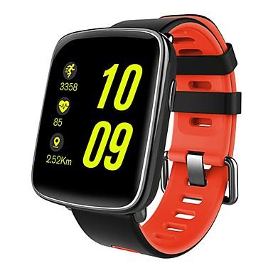 חכמים שעונים GV68 ל iOS / Android כלוריות שנשרפו / בלותוט' / מצב שינה / גע בחיישן / בקרת APP Tracker דופק / מד צעדים / מזכיר שיחות / מד פעילות / מעקב שינה / תזכורת בישיבה / Alarm Clock / חיישן אצבע