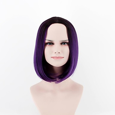 Synthetic Wig Straight Synthetic Hair Natural Hairline Purple Wig Women s  Short Capless 6c30124b0