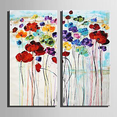 billige Trykk-Trykk Strukket Lerret Trykk - Blomstret / Botanisk Moderne Kunsttrykk