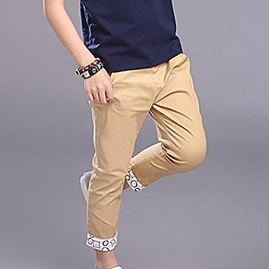 baratos Calças para Meninos-Para Meninos Casual Diário Sólido Fashion Calças Azul Claro