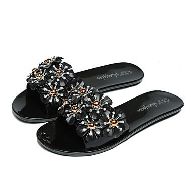 Women's PU(Polyurethane) Spring / Summer Comfort Sandals Wedge Heel Open Toe Bowknot White / Black / Pink