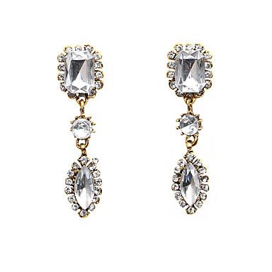 abordables Boucle d'Oreille-Femme Cristal Boucle d'Oreille Pendantes Goutte dames Mode Cristal Imitation Diamant Des boucles d'oreilles Bijoux Blanc Pour Sortie Valentin