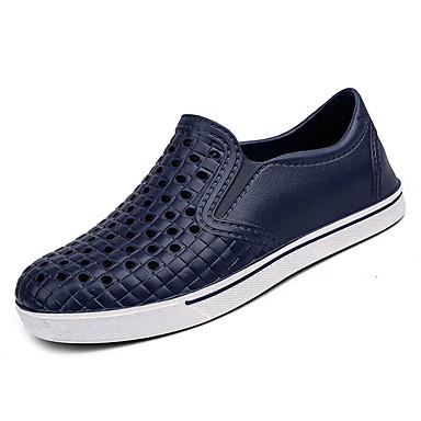 בגדי ריקוד גברים גומי אביב / סתיו נוחות נעלי ספורט שחור / אפור / כחול