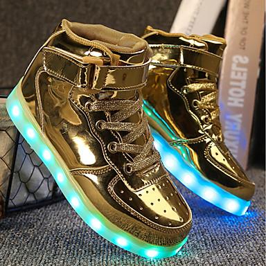 povoljno Cipele za dečke-Dječaci / Djevojčice PU Sneakers Mala djeca (4-7s) / Velika djeca (7 godina +) Udobne cipele / Svjetleće tenisice Hodanje Vezanje / Kopčanje na kukicu / LED Zlato / Pink / Pink Proljeće / Jesen