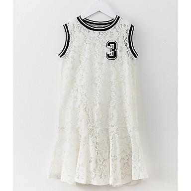 שמלה ללא שרוולים תחרה אחיד פשוט בנות ילדים