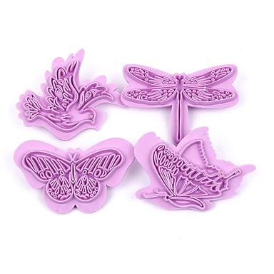 4 sztuk / zestaw motyl plastikowe foremki do ciast biszkopt cukier wklej mold zestaw diy 3d kremówka ciasto dekorowanie narzędzia