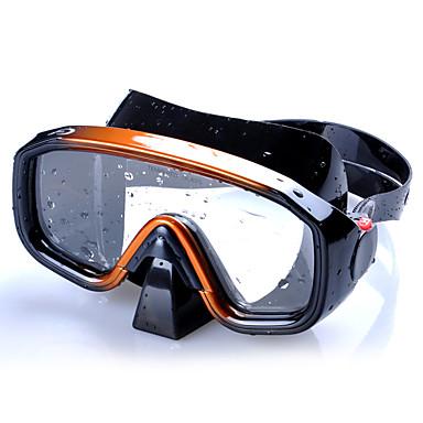 Maska do snorkelingu / Gogle do pływania Anti-Fog, Profesjonalny / a, 3D Pływacki, Nurkowanie Silikonowy - dla Doroślu Złoty