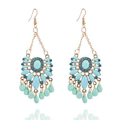 voordelige Oorbellen-Dames Synthetische Tanzaniet Druppel oorbellen Hars Gesimuleerde diamant oorbellen Drop Dames Modieus Sieraden Blauw Voor Dagelijks Uitgaan