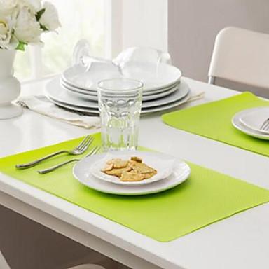 Nowoczesny Plastik / Bawełna Kwadrat Podkładki Solidne kolory Dekoracje stołowe 1 pcs