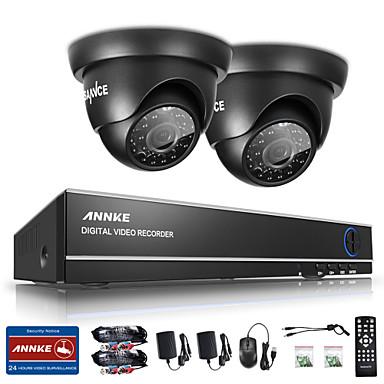 Système de surveillance sannce® 4ch 720p dvr avec caméras de sécurité extérieures 4hd 1280 * 720tvl
