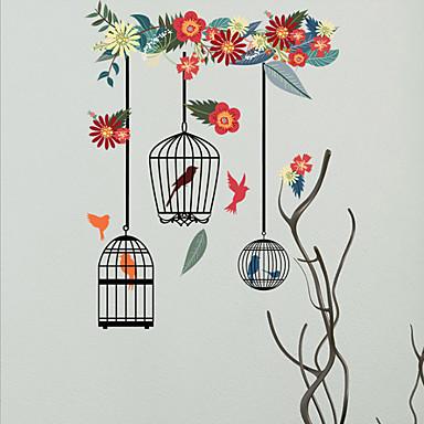 Dekoracyjne naklejki ścienne - Naklejki naścienne ze zwierzętami Zwierzęta / Kwiatowy / Roślinny Salon / Sypialnia / Łazienka