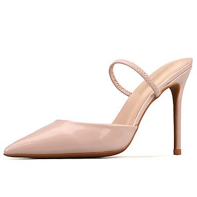 A Eté pointu Blanc Bride Aiguille Talon Verni Noir Chair Evénement Bout Chaussures Cuir Arrière Femme 06626940 Sandales Soirée amp; tfPIwq7X