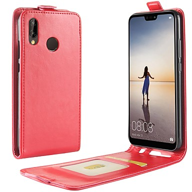 Kılıf Na Huawei P20 / P20 lite Etui na karty / Flip Pełne etui Solidne kolory Twardość Skóra PU na Huawei P20 / Huawei P20 Lite