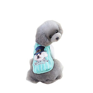 Zwierzęta domowe Bluzy z kapturem / Bluzy / Bejsbol Ubrania dla psów Napis / Zdanie / Płótno / Rysunek Zielony / Niebieski / Różowy Wyściełana Fabric Kostium Dla zwierząt domowych Zwierzęta