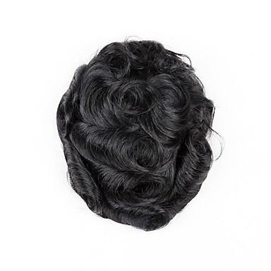 Męskie Włosy naturalne Tupeciki Falisty Człowiek splot / 100% ręcznie związana