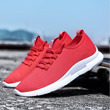 finest selection 37c74 939a1 Hombre Suelos ligeros Red   Tul Verano Confort Zapatillas de deporte  Running   Tenis   Paseo