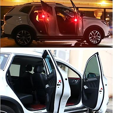 2szt Noc LED Light Czerwony Nagły wypadek / Bezpieczeństwo / Automatyczny przełącznik Lampka drzwi / Dekoracja samochodu / Żarówki Samochodowe LED