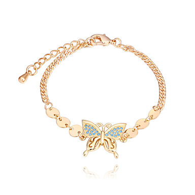 Damskie Cyrkonia Bransoletka - Motyl Europejskie, Moda Bransoletki Złoty / Srebrny Na Impreza Codzienny